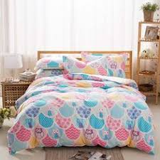 pink owl bedding twin or full comforter set bed in a bag