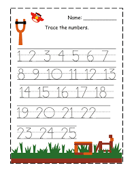 trace the numbers for the first level kiddo shelter