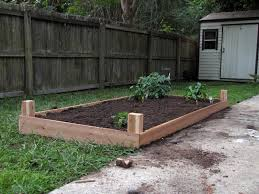 How To Make A Raised Vegetable Garden by Cedar Raised Bed For Vegetable Garden Buildegg Articles