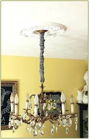 Chandelier Cover Chandeliers White Silk Chandelier Chain Cover In Cord Design 11