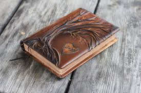 leather wedding guest book wedding guest book personalized leather journal tree of