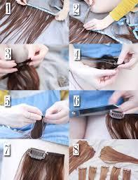 diy hair extensions hair tutorial diy clip in hair extensions