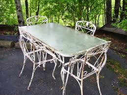 Where To Buy Wrought Iron Patio Furniture Wrought Iron Table With 4 Chairs Offered On Ebay Starting At