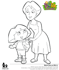 coloring pages dora mother coloring pages
