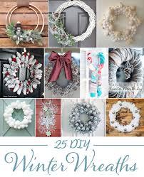 diy wreaths 25 diy winter wreaths
