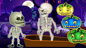 Halloween Skeletons by Halloween Skeleton With Color Pumpkins Finger Family Songs