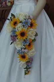 country wedding bouquets items similar to artificial sunflower wedding bouquet set