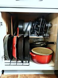 Kitchen Cabinet Organizers Lowes Organizer Pots And Pans Shelf Organizer Pots And Pans Organizer