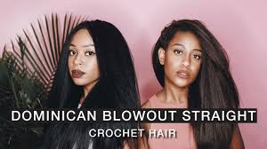dominican blowout straight crochet hair x pression youtube