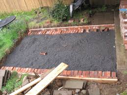 Red Brick Patio Pavers by How To Lay Patio Pavers On Dirt