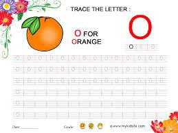 worksheet for letter o