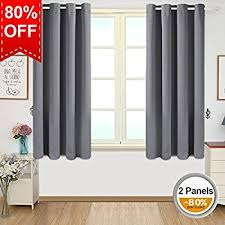 Two Curtains In One Window Amazon Com Deconovo Room Darkening Thermal Insulated Blackout