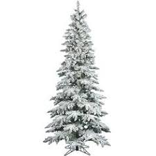 Frosted Christmas Tree Sale - 7 5 ft pre lit natural cut flocked vermont spruce christmas tree