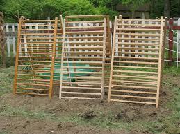 low cost gardening vertical growing using drop side cribs