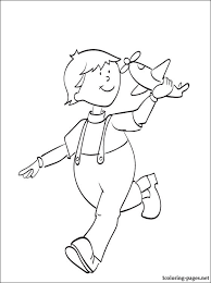leo caillou coloring coloring pages