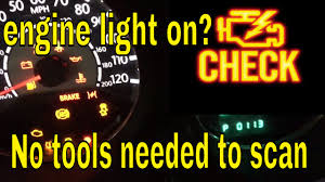 chrysler 200 warning lights how to scan or check why the engine light is on without a scanner