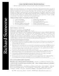 A Job Resume Sample by Law Enforcement Professional Resume Richard Had A Lengthy And