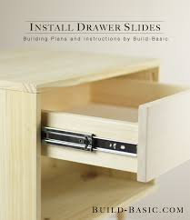 How To Install Drawer Slides  Build Basic - Kitchen cabinet drawer rails