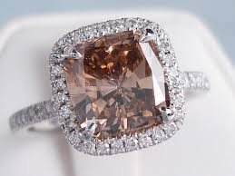 chocolate wedding rings 3 00 ctw cushion cut engagement ring chocolate vs2