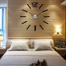 anself home diy decoration large quartz acrylic mirror wall clock