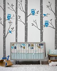 compare prices on birch tree vinyl wall decal online shopping buy huge size tree wall stickers playground birch forest with owls and birds vinyl wall decal baby
