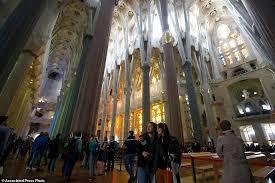new photos show barcelona u0027s sagrada familia as construction enters