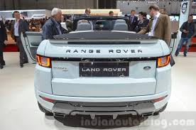 range rover evoque rear range rover evoque convertible rear at the 2016 geneva motor show