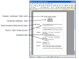 Resume Spacing Format Project Connect Basic Pc Applications Session 2