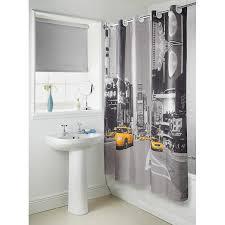 Skyline Shower Curtain New York Waterproof Fabric Bathroom Shower Curtain With Curtain Hooks