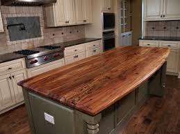 tuscan kitchen design with walnut island butcher block countertop