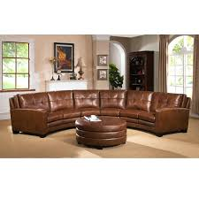 venezia leather sectional and ottoman leather couch with ottoman meadows brown curved top grain leather