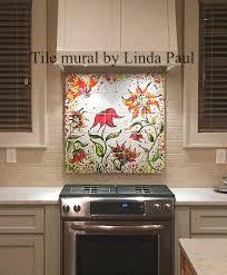 Tile Murals For Kitchen Backsplash Sunflower Diy Easy Removable Temporary Colorful Backsplash Tile