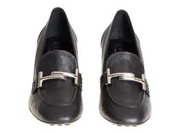 tod u0027s high block heels black leather pumps shoes italian boutique