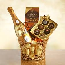 Wine And Chocolate Gift Basket Cristal Champagne Chocolate Gift Basket California Delicious