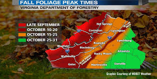 2016 fall color schedule virginia u0027s blue ridge