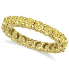 gold bands rings images Fancy canary yellow diamond eternity ring band 18k yellow gold 3 00ct jpg