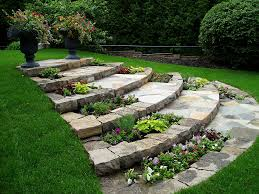 walkway designs walkways flagstone and sloped backyard
