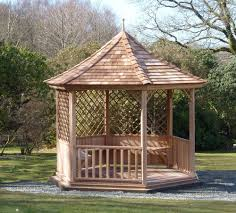 six sided gazebo with trellis stan fairbrother garden structures
