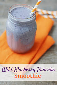 wild blueberry pancake smoothie snacking in sneakers