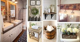 bathroom decor ideas 36 best farmhouse bathroom design and decor ideas for 2018