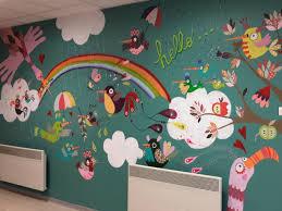 fresque murale chambre fresque murale école de dingy en vuache cocotte en papier