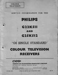 g6 field service manual u2013 early philips colour tv