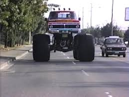 blue thunder monster truck videos image thunder beast driving on the highway a jpg monster