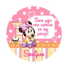 baby minnie mouse 1st birthday printable pink baby minnie mouse sticker lollipop