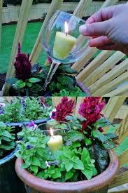 Recycled Garden Decor with Glass Candle Jpg