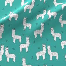 Baby Nursery Fabric Alpaca Teal Alpacas Cute Llamas Baby Nursery Cute Design Baby