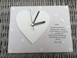 personalised gift chic clock special best friend friendship