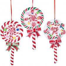 5 lollipop ornaments set of 3 3716433 craftoutlet