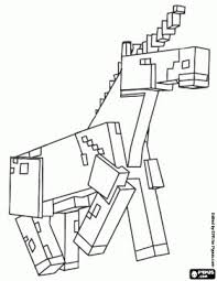 minecraft horse coloring pages for children at the library