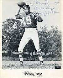 this is a 8x10 photo that has been hand signed by johnny unitas